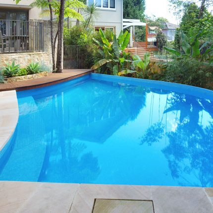 Lower north shore pool design modern curved pool design for Pool design sydney