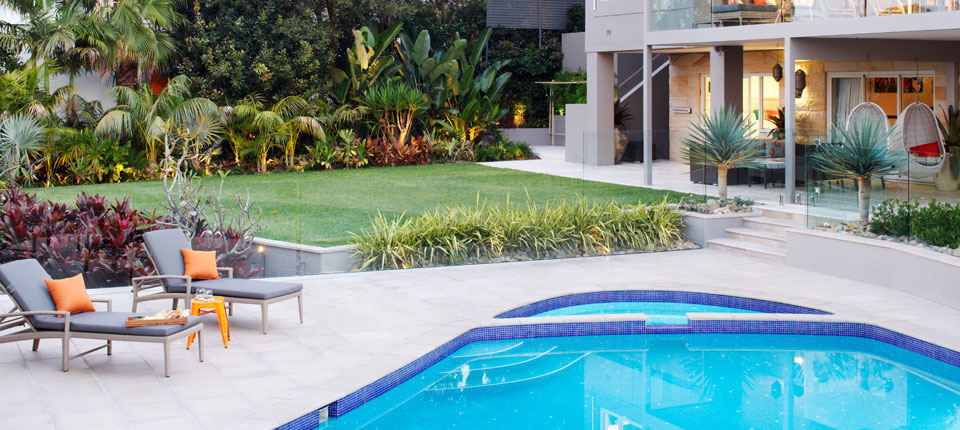 A tropical pool design in Sydney