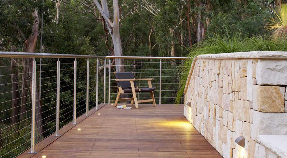 Sloping block landscape design - Sydney, NSW