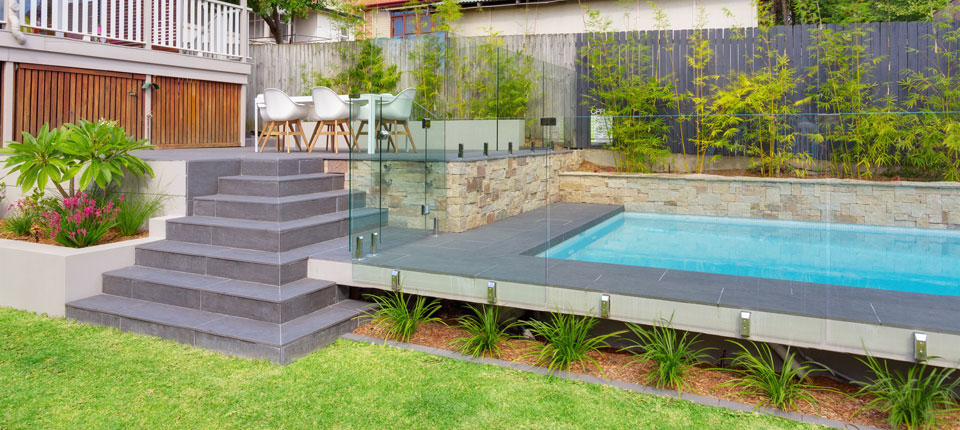 08 Terraced Pool U2013 Landscape Design, Garden Designers | Space Landscape  Designs, Sydney NSW