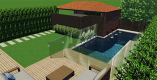 Swimming Pool Combined With A Decking Design