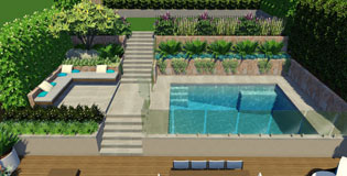 Terrace Garden With Swimming Pool