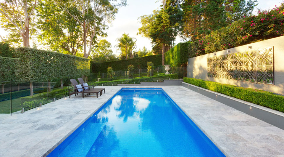 Landscape design & traditional pool design in Killara, Upper North Shore in Sydney