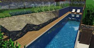 Backyard Lap Pool Design