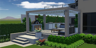 Outdoor Entertaining area with Balcony