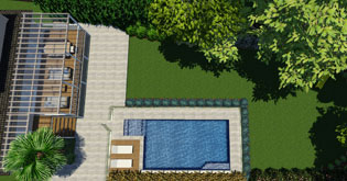 Entertaining area and Swimming Pool