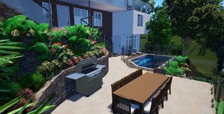 Backyard Design on steep slope